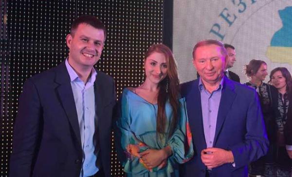 Япрслав Бублик (слева) и экс-президент Леонид Кучма (справа)