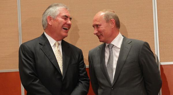 Рекс Тиллерсон и Владимир Путин
