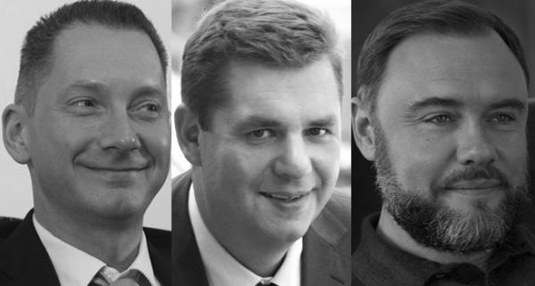 Борис Ложкин, Александр Третьяков и Глеб Загорий