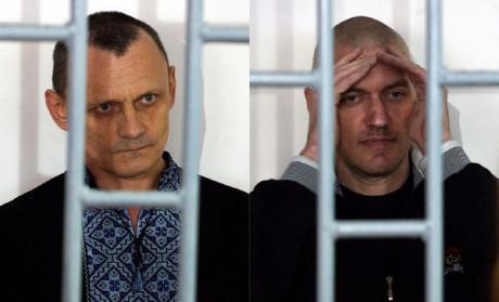 Николай Карпюк (слева) и Станислав Клых в суде. Фото: Антон Наумлюк