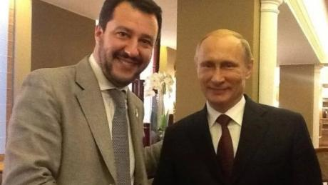 Маттео Сальвини и Владимир Путин