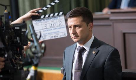 Владимир Зеленский на съемках телесериала Слуга народа